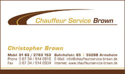 Chauffeurservice Brown