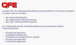 QFE - Quality First Engineering GmbH